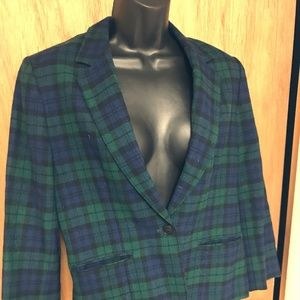 PENDLETON  TARTAN PLAID JACKET/BLAZER SZ.S/M WOOL